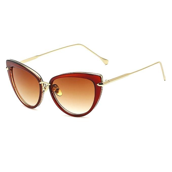 Juleya Vintage Cat Eye Gafas de sol Mujer UV400 Gafas Black ...