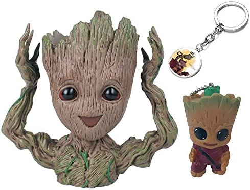 KRUCE 3 Pack Baby Groot Maceta Pot Pen Contenedor con 2 ...
