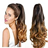 Neverland Beauty 20''(50cm) Ombre Two Tone Long Big Wavy Claw Curly Ponytail Clip in Hair Extensions 6#/27#