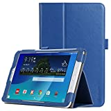 Samsung Galaxy Tab E 9.6 Case - iHarbort Premium Stand Leather Case Cover with Strap and Card Slots for Samsung Galaxy Tab E 9.6 Inch SM-T560 T561 T565 T567, Dark Blue
