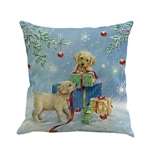 Throw Pillow Cover, DaySeventh Christmas Printing Dyeing Sofa Bed Home Decor Pillow Cover Cushion Cover A 18x18 Inch 45x45 ()