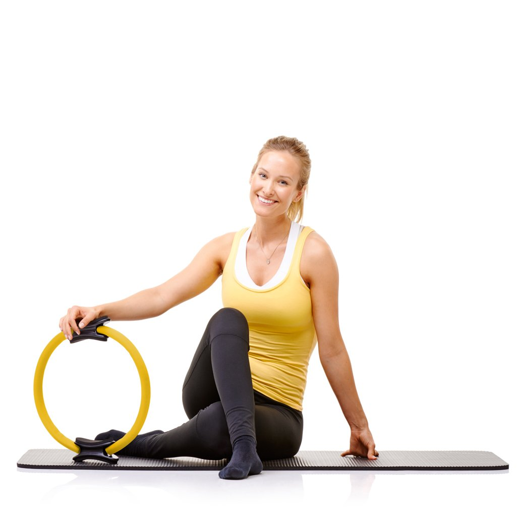 Pilates Ring by Oyomba - Workout Magic Circle - BALANCED BODY CIRCLE TO Achieve your PERFECT Body Shape - BEST for WOMEN and MEN EXERCISES and TONIFY FAST your Legs; Arms;Full Body (Pack of 5pieces) by Oyomba (Image #4)