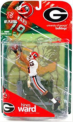 McFarlane Toys NCAA COLLEGE Football Sports Picks Series 1 Action Figure Hines Ward (Georgia Bulldogs) White Jersey Variant (1965 Ncaa Football)