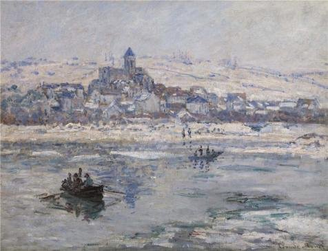 The Polyster Canvas Of Oil Painting 'Claude Monet, Vetheuil
