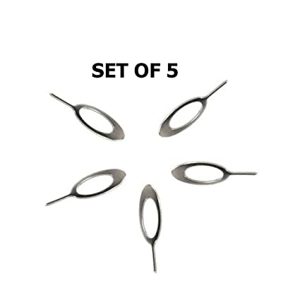 King Shine Pack of 5 Mobile Sim Ejector pin Tools Tray Holder Opener Pin  for Oppo/VIVO/Samsung/iPhone and All Smartphones