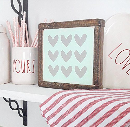 Amazon Com Mint Hearts Mint Green Mini Sign Hearts