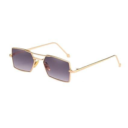 Sunday Retro Gafas de Sol Cuadradas de las Sombras de Ojos del Marco Metálico Vidrios UV