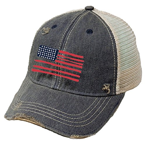 Original Retro Brand The American Flag Trucker Hat, Navy, One Size