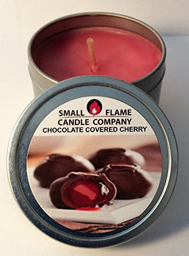 Chocolate Covered Cherry Scented Soy Candle from Small Flame Candle Company