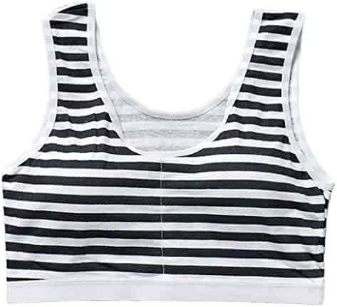 2e7e4f15881ab Cicitop New Stripe Girls Bras Wireless Training Bras Soft Padded Cotton Bra  Young Girls Yoga Sports