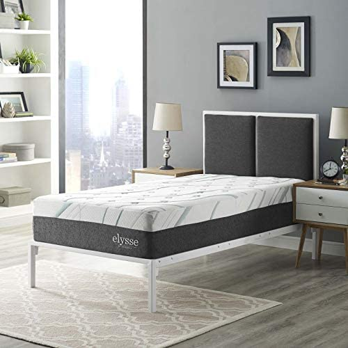 Modway Elysse 12 Cooling Hybrid CertiPUR-US Certified Memory Foam Twin Mattress