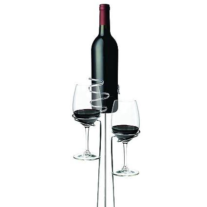 TOOGOO 3 Unids/Juego Titular de la Botella de Cristal de Vino Al Aire Libre