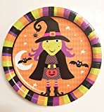 Halloween Spooky Theme Party Supplies Bundle 2016 – (104 pcs) Serves 18 Guests - Hallowe'en Plates Napkins Cups Tablecloth Bowl and Utensils - Witch and Bats Dinnerware Pack
