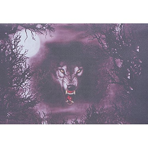 Wolf Window Graphics - Terror Wolf 3D Transparent Car Back Rear Window Decal Vinyl Sticker FOR HAPPY Halloween