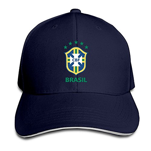 JimHappy CBF-Brasil-Logo Cute Trucker Cap Durable Baseball Cap Hats Adjustable Peaked Sandwich Cap -