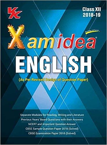 Xam Idea English Class 12 for 2019 Exam : Amazon in: VK Global