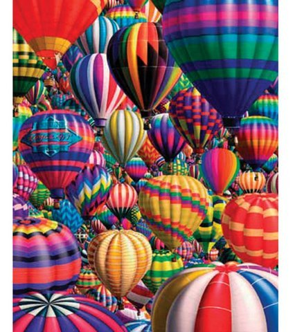 Game / Play Hot Air Balloons 1000 PC Jigsaw Puzzle by White Mountain. Matching, Colorful, Game, Pieces, Art Toy / Child / Kid