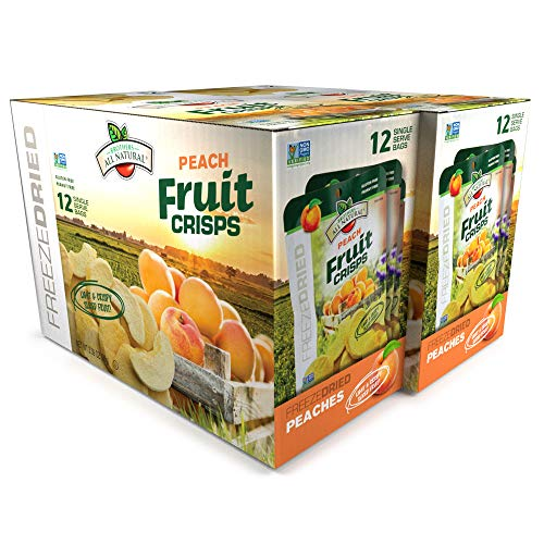 Brothers-ALL-Natural Fruit Crisps, Yellow Peach, 0.28-Ounce  Bags (Pack of 24)