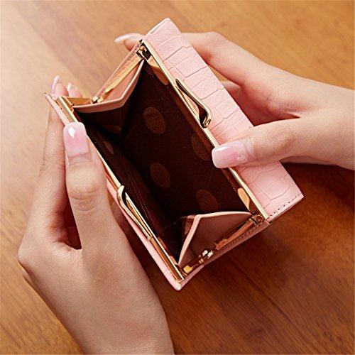 Journée Cash Tenir Bags D'embrayage Portefeuille Plier PU Porte Carte Portefeuilles Pour Petite Purple Lock Les Courts Hasp Cuir Monnaie Femmes En Trois 7TaPqx