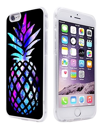 Pineapple Case for iPhone 6S Plus,Gifun [Anti-Slide] and [Drop Protection] Clear Soft TPU Premium Flexible Protective Case for iPhone 6S Plus/6 Plus W Brightly Colored Marble Pineapple