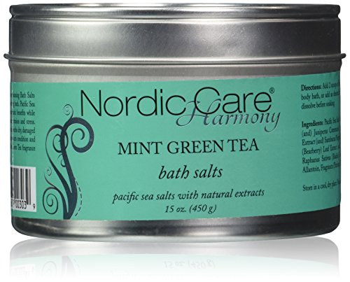 Nordic Mints (Nordic Care Harmony Bath Salts, Mint Green Tea, 15 Ounce)