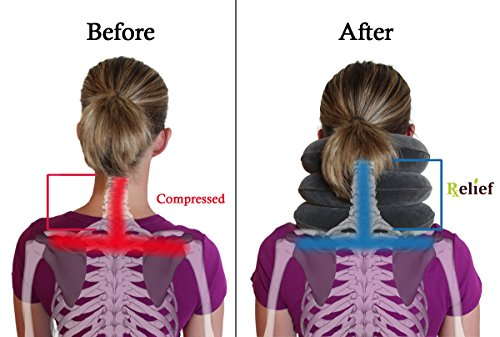 EverRelief Cervical Neck Traction Device FDA Registered ✮ Inflatable & Adjustable Neck Stretcher Collar for Home Traction Spine Alignment by EverRelief (Image #4)