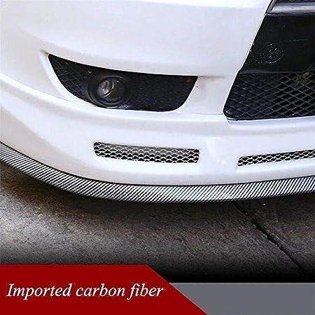 OurLeeme 2,5 m//8,2 pies engomada del coche de labios de la falda del protector de fibra de carbono del frente del coche del coche de parachoques de labios Cinta de goma de 60 mm Anchura