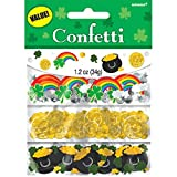 Amscan Lucky Saint Patrick's Day Rainbows and Pots Of Gold Foil Confetti Party Decoration (Pack Of 1), Multicolor, 12 oz