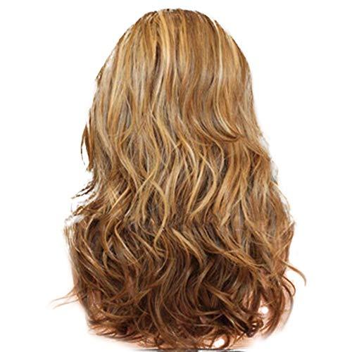 VICCKI 60cm Women's Heat Resistant Hair Blonde Long Curly Full Wig