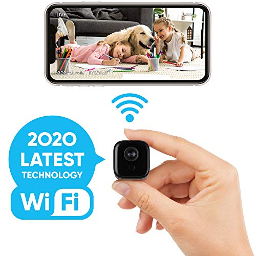 Lilexo Mini WiFi Camera – Wireless Small Home Security Camera, Nanny Cam with Super Night Vision, Motion Detection, Crisp 1080P HD, Live Streaming, Android/iOS App, Indoor & Outdoor Portable Tiny Cam