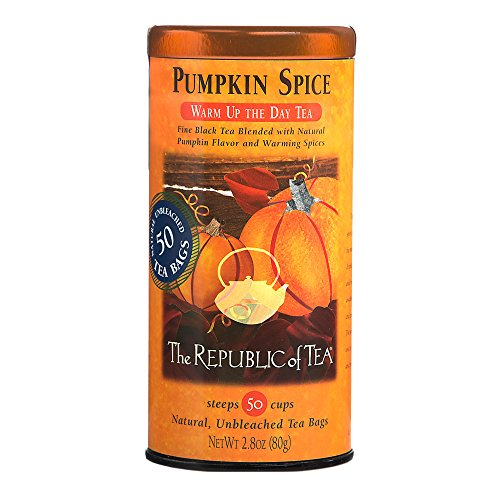 The Republic Of Tea Pumpkin Spice Black Tea, 50 Tea Bags, Autumnal Spice Blend by The Republic of Tea