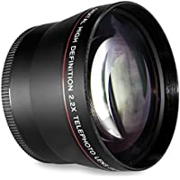 52MM 2.2x Telephoto Conversion Lens for For Nikon D3000, D3100, D3200, D3300, D5000, D5100, D5200, D5300, D5500, D7000, D7100, DF, D3, D3S, D3X, D4, D40, D40x, D50, D60, D70, D70s, D80, D90, D100, D200, D300, D600, D610, D700, D750, D800, D800E, D810 Digital SLR Camera (Compatible With 18-55mm, 24mm 28mm f/2.8D, 35mm f/1.8G, f/2.0D, 40mm, 50mm f/1.4D, 50mm f/1.8D Lens)