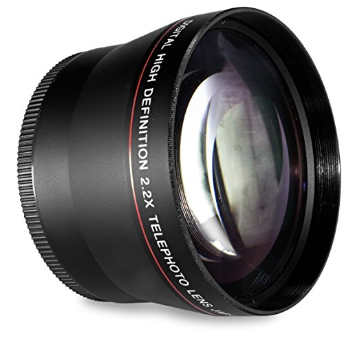 58MM 2.2x Telephoto Conversion Lens for Canon EOS Rebel T6s, T6i, SL1, T5, T5i, T4i, T3, T3i, T1i, T2i, XSI, XS, XTI, XT, 70D, 60D, 60Da, 50D, 40D, 30D, 20D, 10D, 7D, (100D, 300D, 350D, 400D, 450D, 500D, 550D, 600D, 650D, 700D, 750D, 760D, 1000D, 1100D, 1200D) Digital SLR Cameras (Compatible With 18-55mm, 50mm 1.4 , Lens) from HDStars