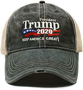 9f8a9a1d3d1621 ChoKoLids Trump 2020 Keep America Great Campaign Embroidered USA Hat |  Baseball Bucket Trucker Cap