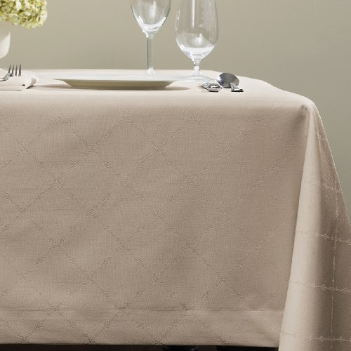 UPC 780870599438, Juliet by Sferra - Oblong Tablecloth 70x126 (Taupe)
