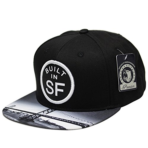 State City Bult in San Fransico Snapback Cap Hat Printed Inner Brim - Shops In Francisco Outlet San