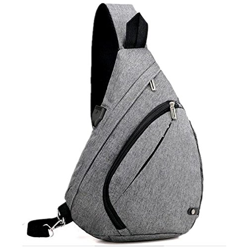 Durable Oxford Sling Backpack Sports - Best Lightweight Multi-Use Pack For Travel Camping Hiking Biking or Fitness, One Strap Shoulder or Crossbody Bag - Choose Your Color (Deep Grey)
