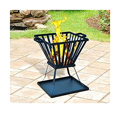 Outdoor Fire Pit Basket Backyard Deck Yard Fireplace Stove Steel Patio Heater Best Selling Item