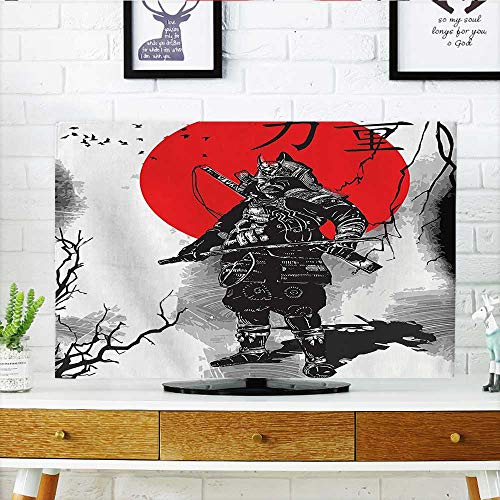 - Auraisehome Television Protector Portrait of Skilled Educated Aristocrat Ancient Knight with His Weapon Man of War Television Protector W19 x H30 INCH/TV 32