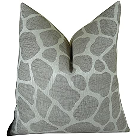 Plutus Brands Plutus Rocky Way Handmade Throw Pillow 16 X 16 Gray White