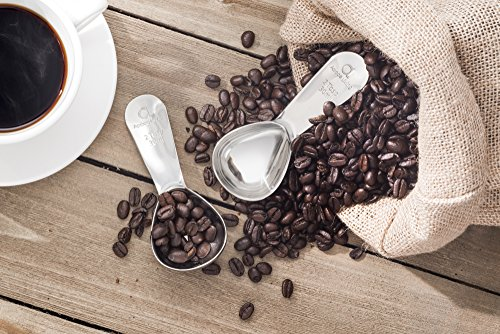 Apace Living Coffee Scoop (Set of 2) - 2 Tablespoon (Tbsp) - The Best Stainless Steel Measuring Spoons for Coffee, Tea, and More by Apace Living (Image #4)