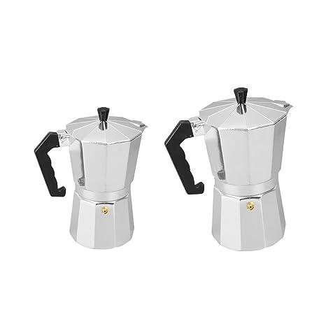 Sharplace 2 Pedazos Estufa de Café Hecha de Aluminio Pote de Moka de Casa