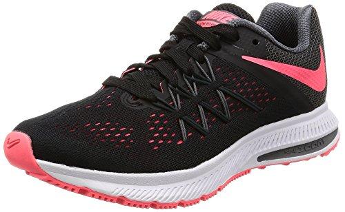 Nike Donna Zoom Winflo 3 Scarpa Da Corsa Nero / Caldo Punch-grigio Scuro