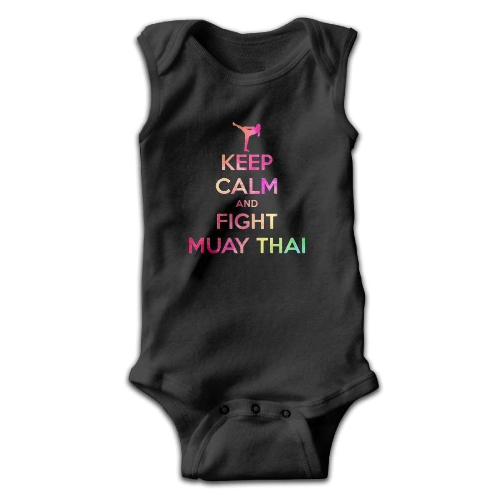 CHAOYIFANG Toddler Colorful Keep Calm and Fight Muay Thai Onesies Jumpsuit
