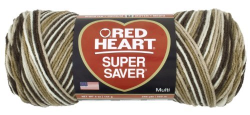 Price comparison product image Coats Yarn Red Heart Super Saver Yarn-Shaded Browns,  Other,  Multicoloured by Coats: Yarn