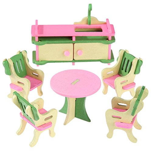 Mini Wooden Simulation Dollhouse Furniture Set Educational Toy Kid Gifts(1)