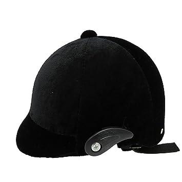 Casco de equitación Caballos Caballo occidental cascos para niños adultos mujeres terciopelo protección de la cabeza