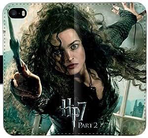 Bellatrix Lestrange S6N8H Funda iPhone 6 6S Plus 5.5 caja de la carpeta de cuero funda Y1DN20 fresca del teléfono fundas caso del tirón