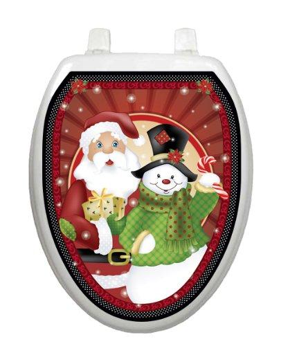 Polka Dot Christmas Toilet Tattoo TT-X631-O Elongated Winter Snow Holiday