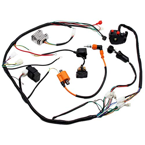 (Wiring Harness Loom Key Solenoid Performance Coil Regulator CDI 150cc 200cc 250cc 300cc ATV Quad Dirt Bike)
